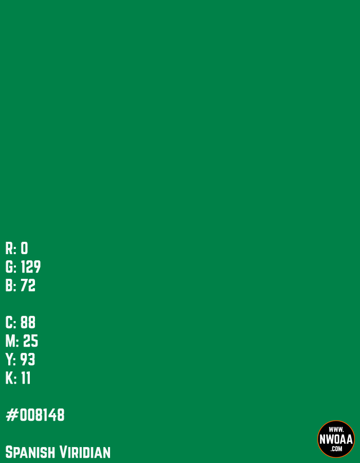 Color Of The Day #54 - Spanish Viridian #008148