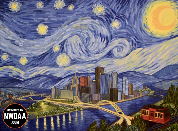 Christopher Nemeth Starry Night Over Pittsburgh